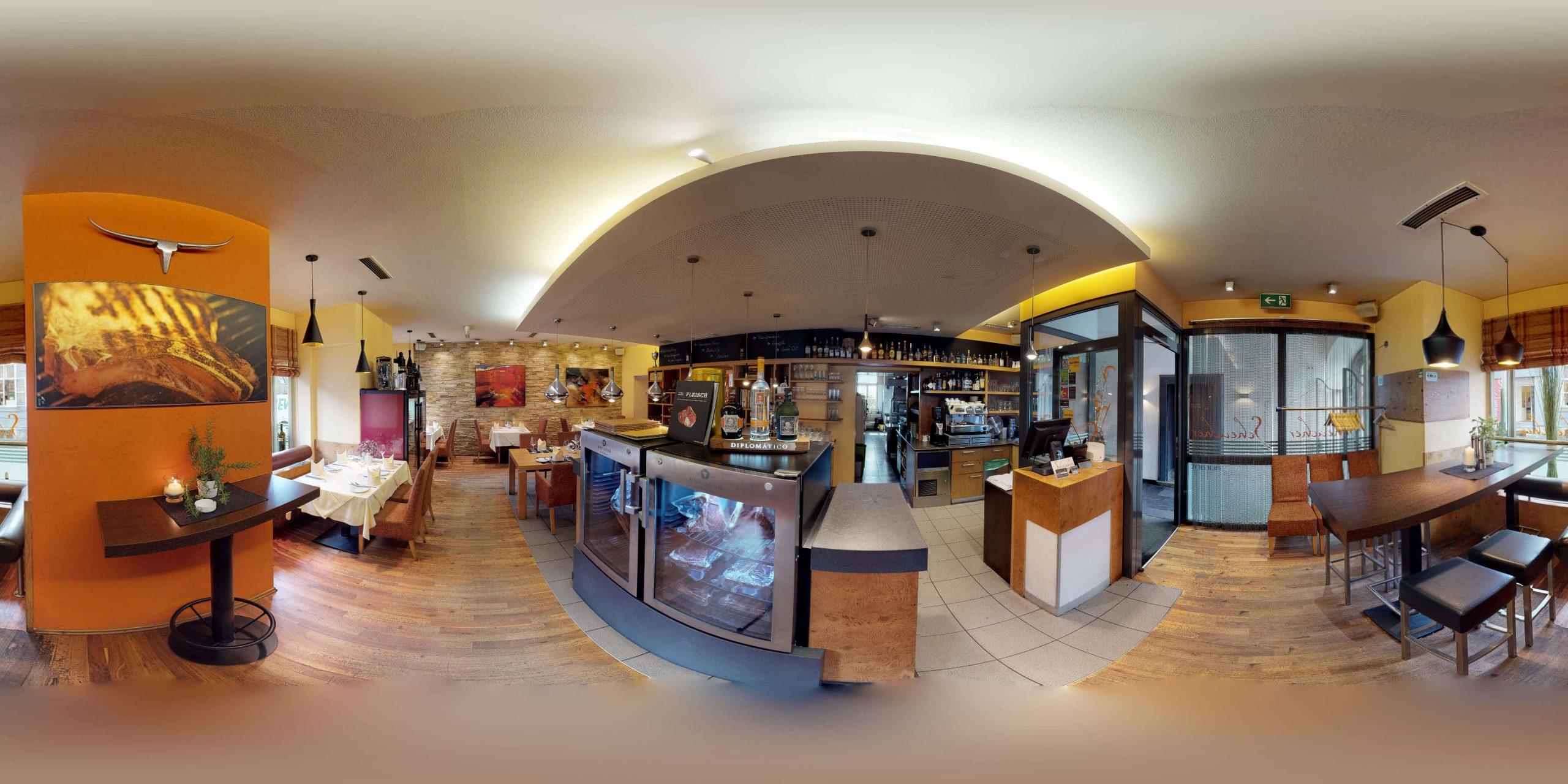 360 Grad Titelbild des Restaurants Scheucher Graz der Branche Gastronomie aus Graz Steiermark Österreich mit Matterport 3D Rundgang und 360 Grad Rundgang für Google StreetView im 3D Branchenverzeichnis