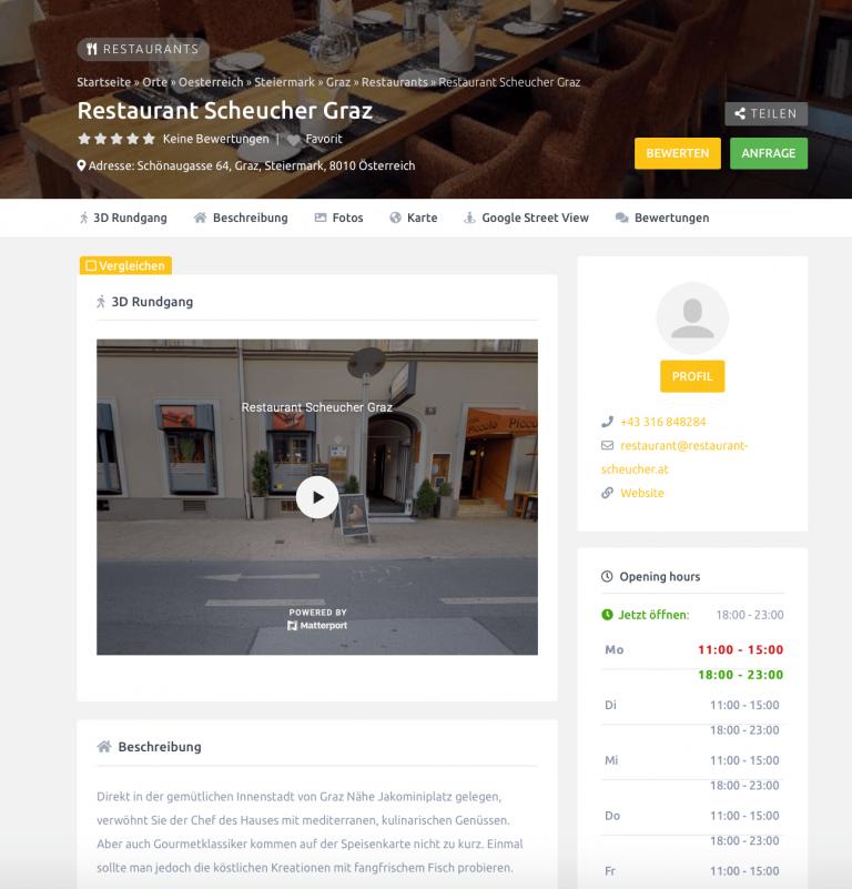 innovatives suchergebnis virtuelles branchenverzeichnis österreichs